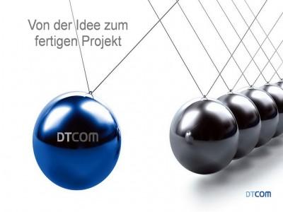 Knopf zu DTCOM, Knopf zu Dreschmann, Kopf zu Dr. peter Dreschmann,