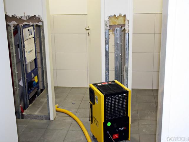 Gebäudetrocknung, Wasserschäden, Feuchtigkeitsschäden, Bautrocknung