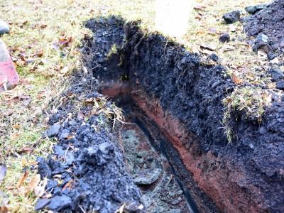 DTCOM, Knopf zu Bodenuntersuchungen, Bodengutachter, Bodengutachten, Bodenuntersuchung, Schurf,